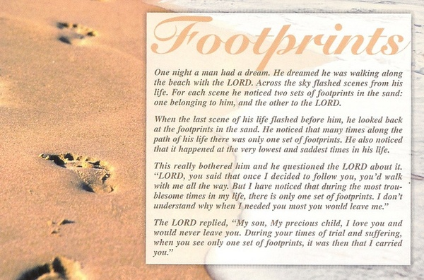 Footprints poem..one of my favorites ღ