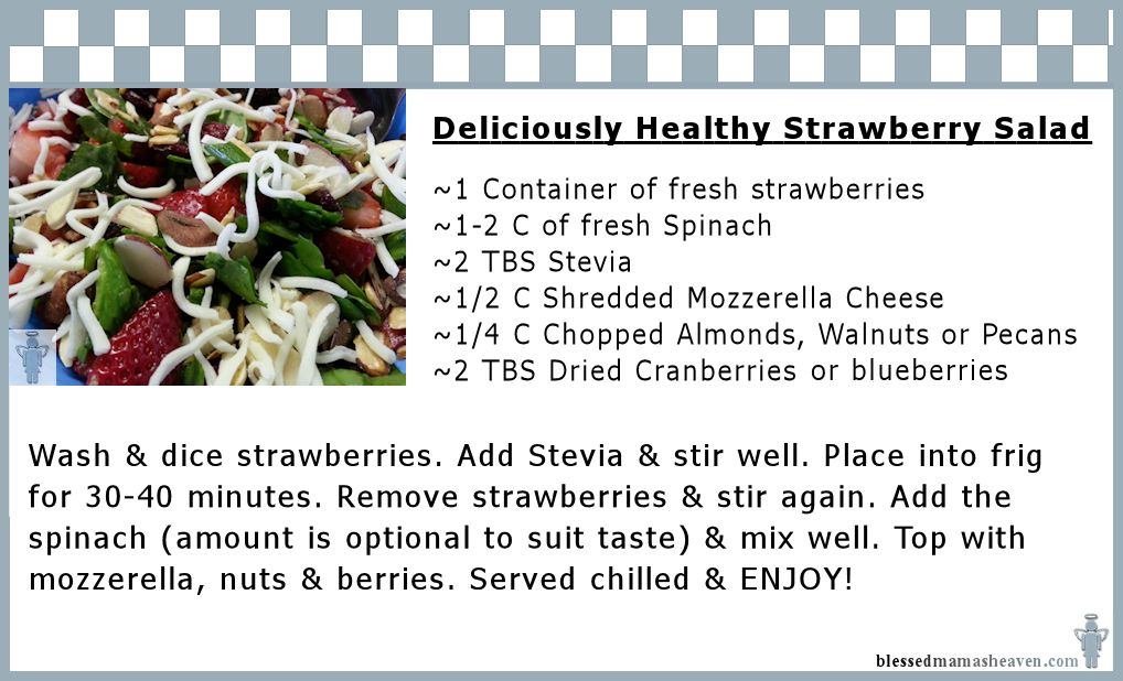 Deliciously Healthy Strawberry Salad